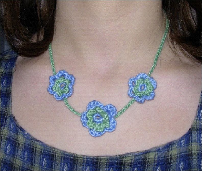 Positively Crochet!: Flower Necklace - Free Pattern