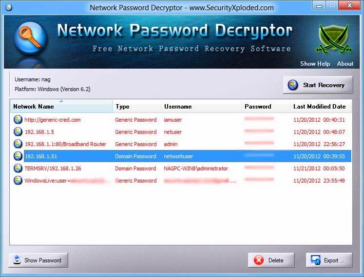 Password Decryptor for Outlook 9.0