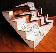 stair climbing optical illusion