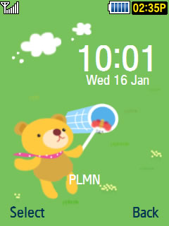 Samsung GT-M3318C Bear Theme Download Wallpaper