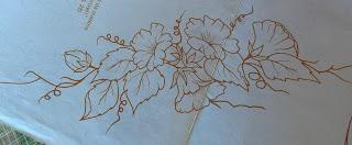 Risco para pintura em tecidos-Gérberas