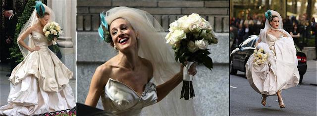 Carrie Bradshaw vestida de novia por Vivienne Westwood