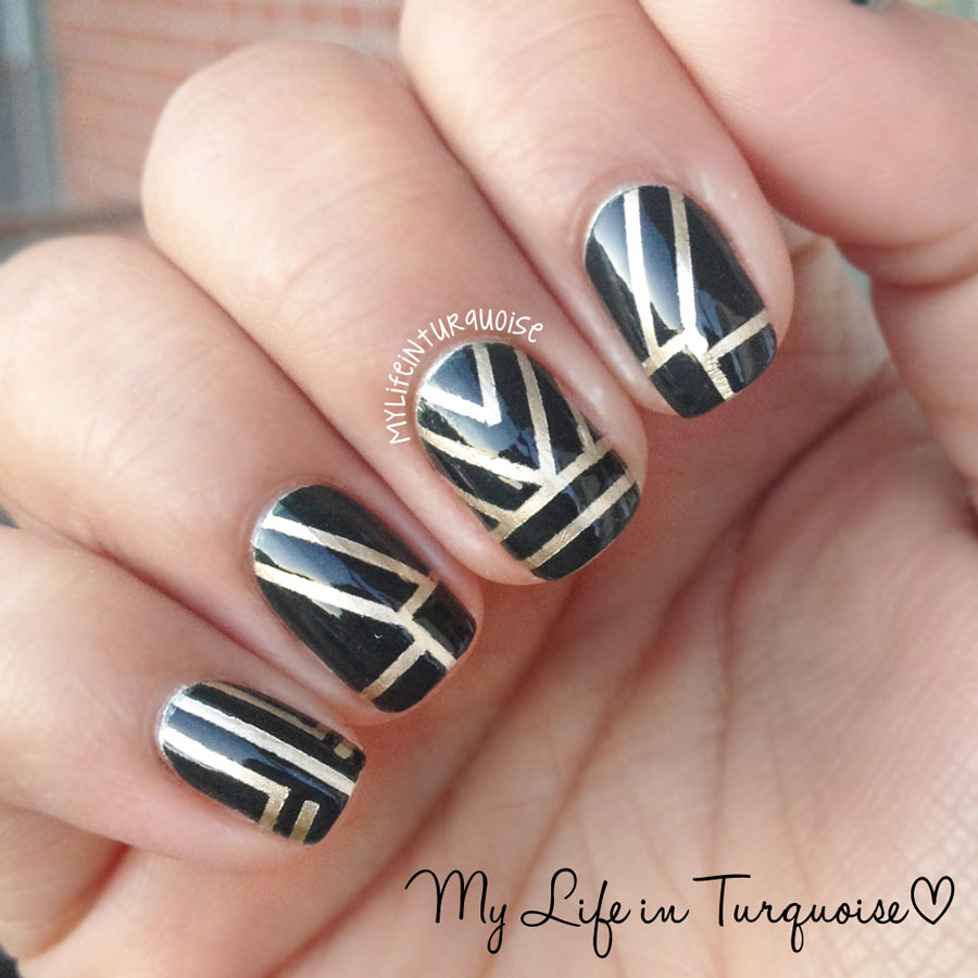 Gold Nail Line Design Pictures to Pin on Pinterest - PinsDaddy