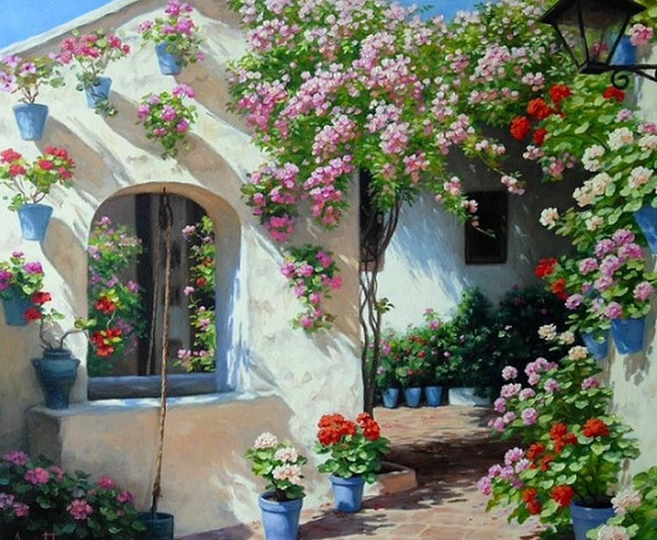 con casa campestre la galería de cuadros de paisajes naturales
