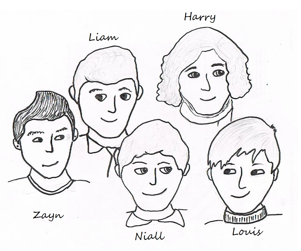 Coloring pages for one direction - One Direction Da Colorare