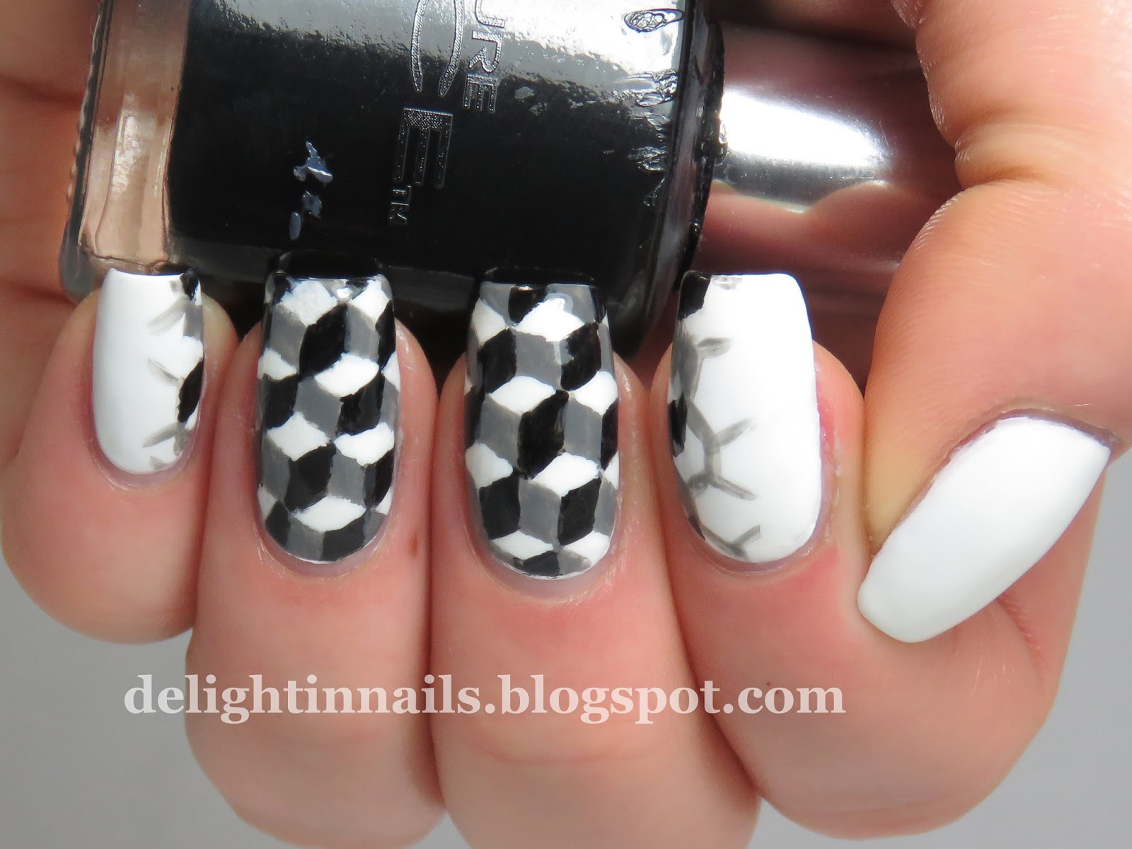 Delight In Nails 40 Great Nail Art Ideas Black White