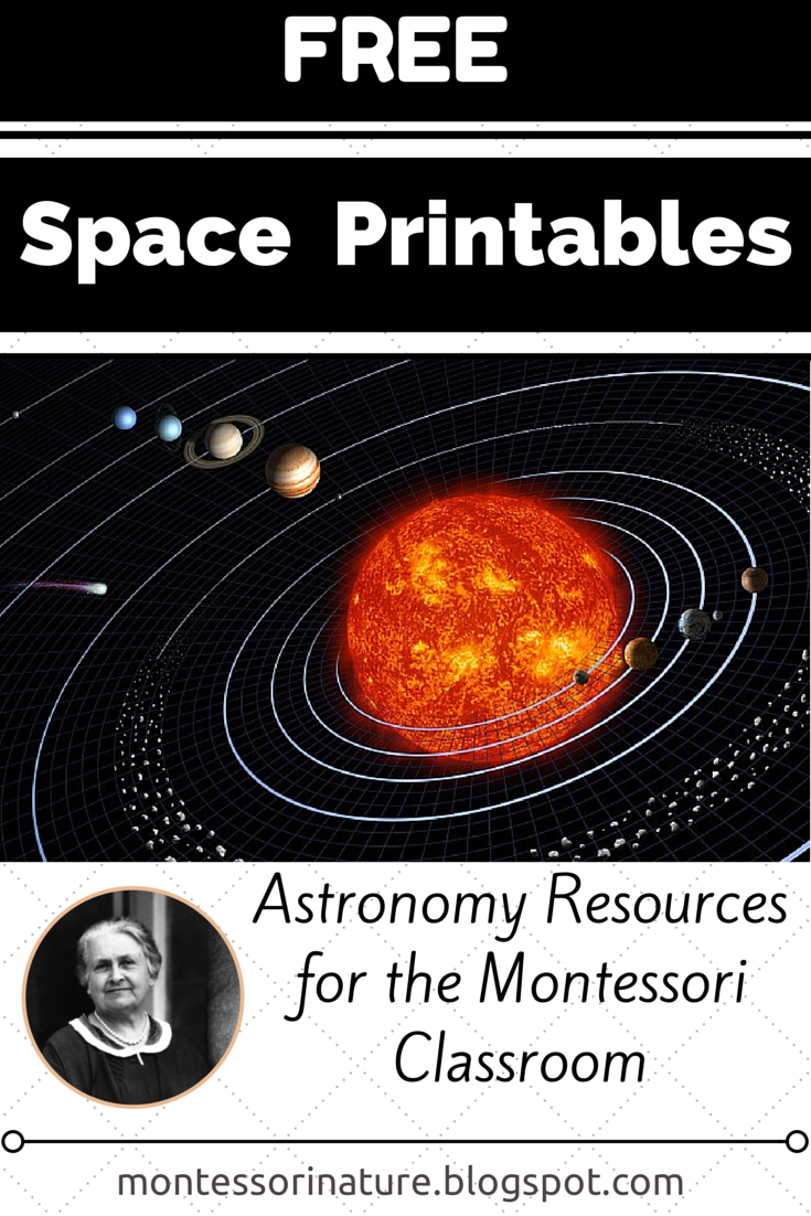 Free Space Printables Astronomy Resources for the Montessori