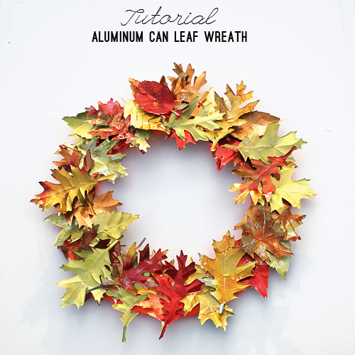 be different act normal aluminum can fall wreath diy