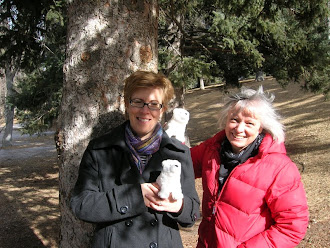 Children's Librarians, Kathleen and Cindy with the Polar Pals