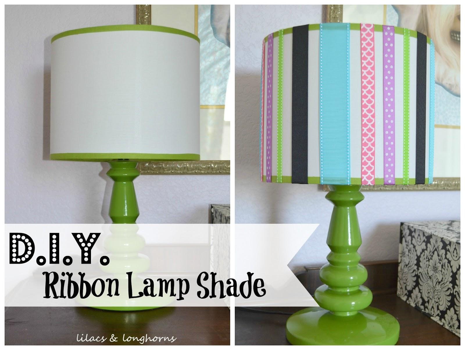 Diy ribbon lamp shade lilacs and longhornslilacs and longhorns diy ribbon lamp shade aloadofball Choice Image