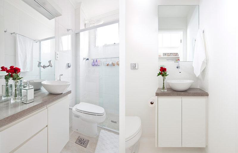 Solução de decoração para apartamento pequeno? Tudo branco!  Casa e Cozinha -> Decoracao De Banheiro De Apto Pequeno