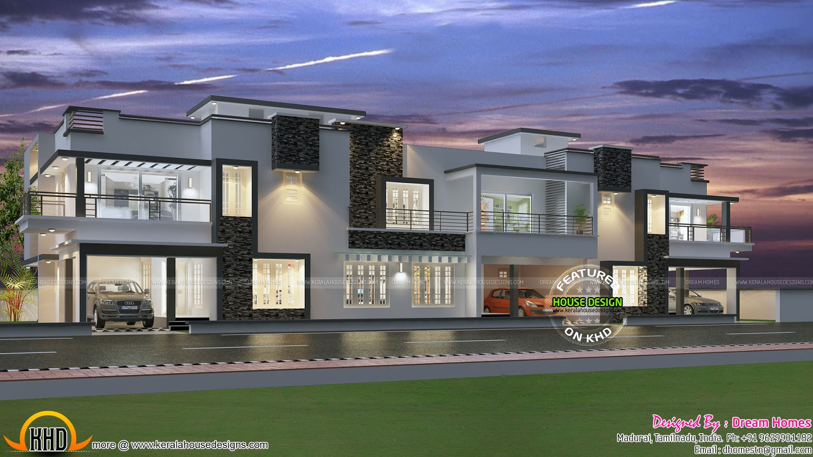 Row house design and plans kerala home design and floor for Raw house plan design