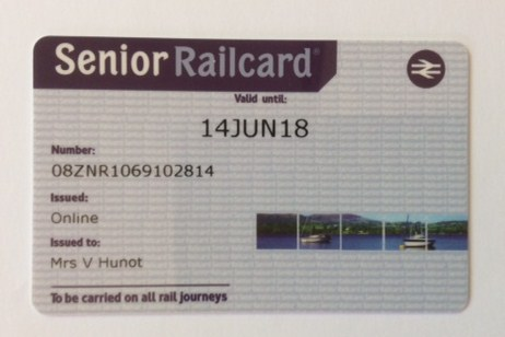 Image Gallery Over 60 Railcard