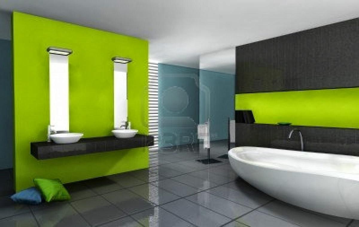 Ba os color verde oscuro for Bano de color negro