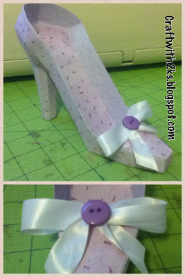 how to make a high heel shoe out of paper