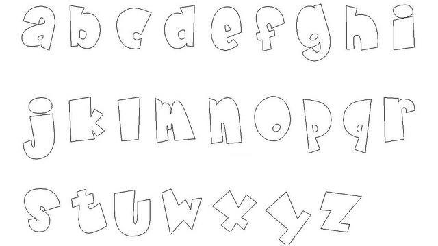 ESPAÇO EDUCAR: Moldes de Letras para Mural! Moldes das letras do ...