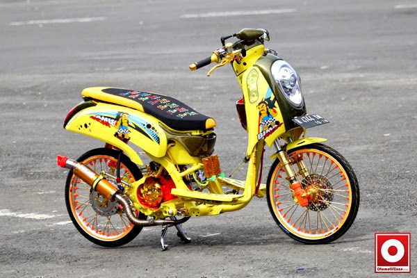 modifikasi motor honda scoopy drag