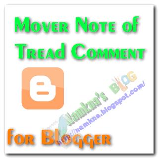 Di chuyển ghi chú theo khung nhận xét khi reply cho thread commnet blogspot