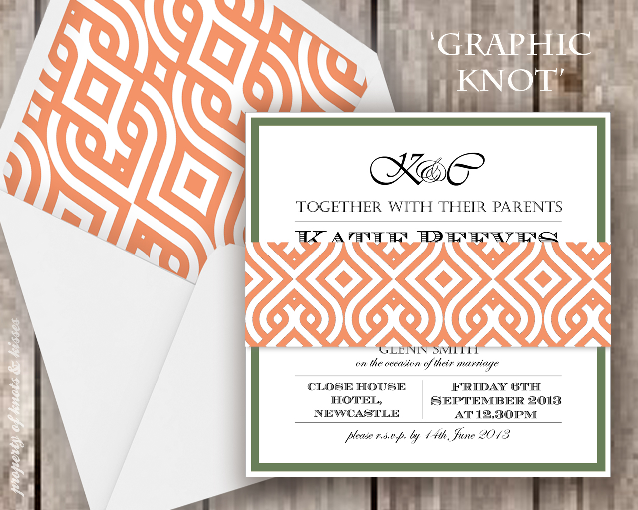 The New \'Graphic Prints\' Wedding Stationery Collection! - Knots & Kisses