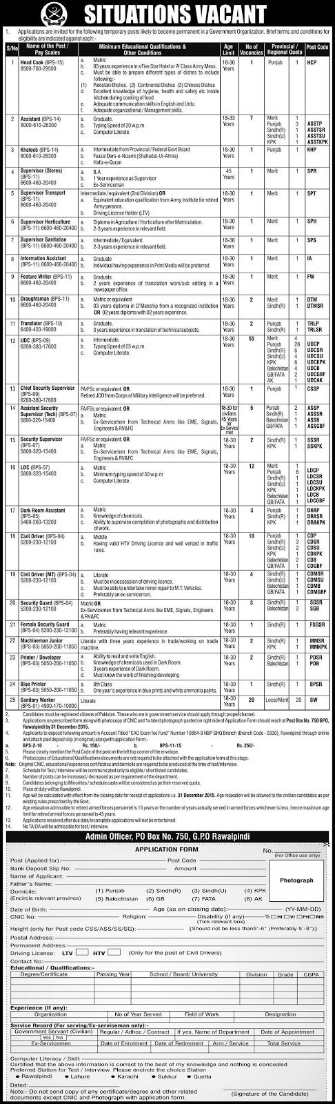 Admin Jobs in Government Department