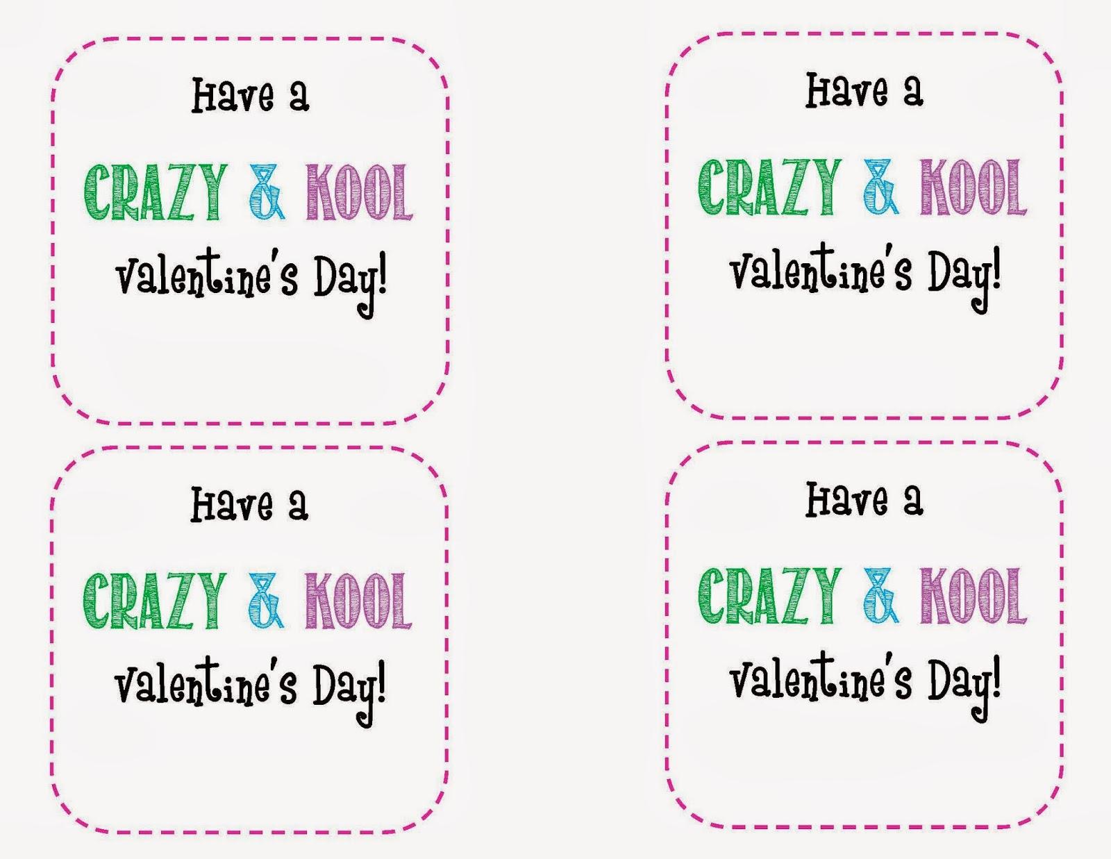 Crazy & Kool FREE Valentine Printable