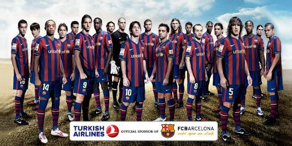 Reklama Turkish Airlines z wykorzystaniem graczy FC Barcelona