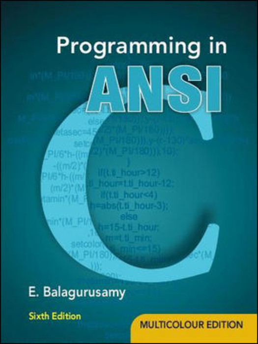 Object oriented programming in ANSI c by e balagurusamy 2 MB