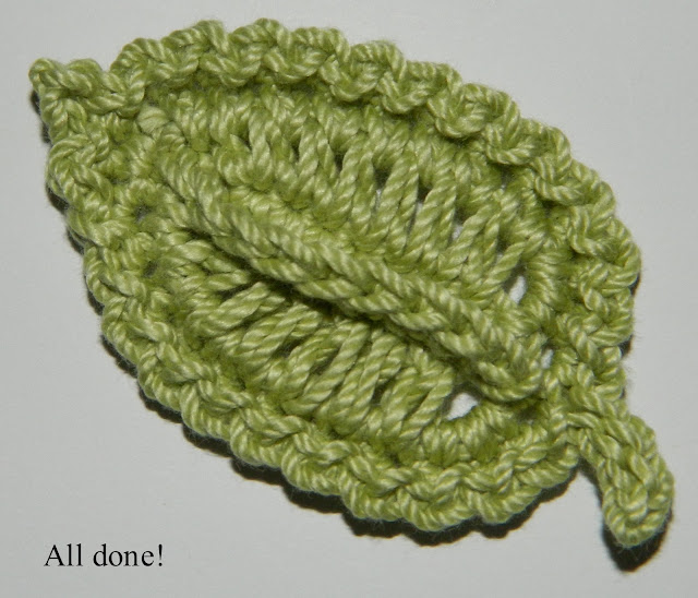 Crochet Patterns Free Leaf : lauras frayed knot: crocheted leaf