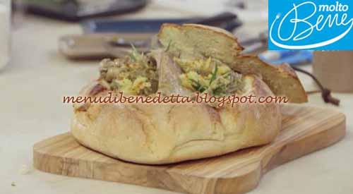 Coniglio con carciofi nel pane ricetta Parodi per Molto Bene su Real Time