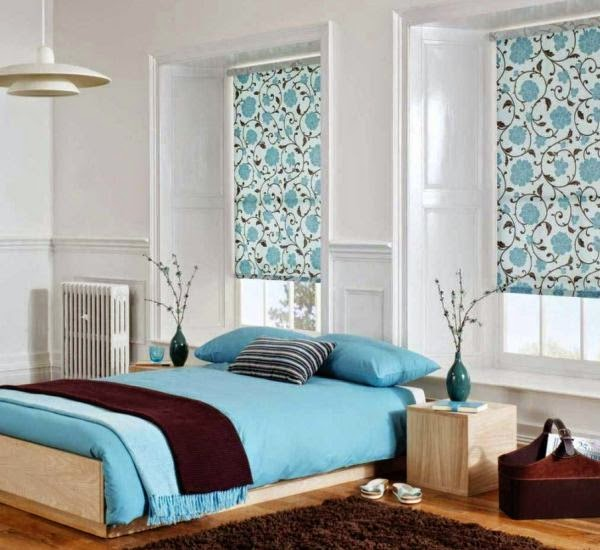 Decora hogar: dormitorios matrimoniales en celeste y blanco. vídeo ...