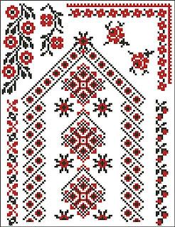 Схемы вышивки крестом о. Орнаменты.