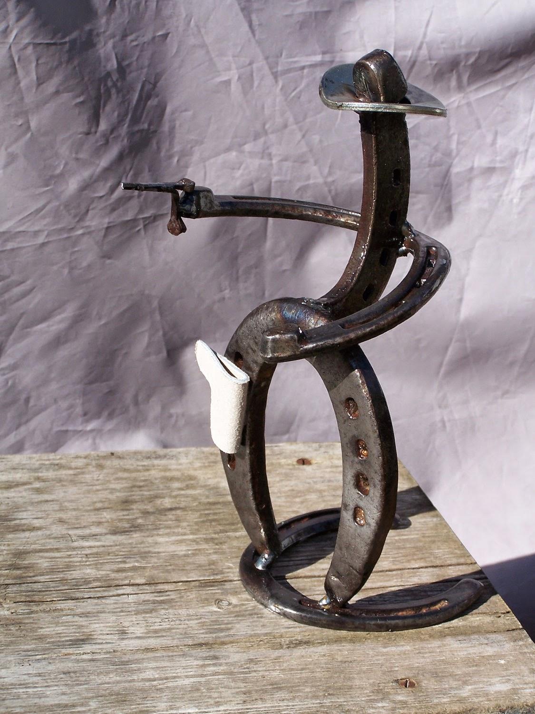 Cowboy horseshoe art ideas the image for Horseshoe arts and crafts