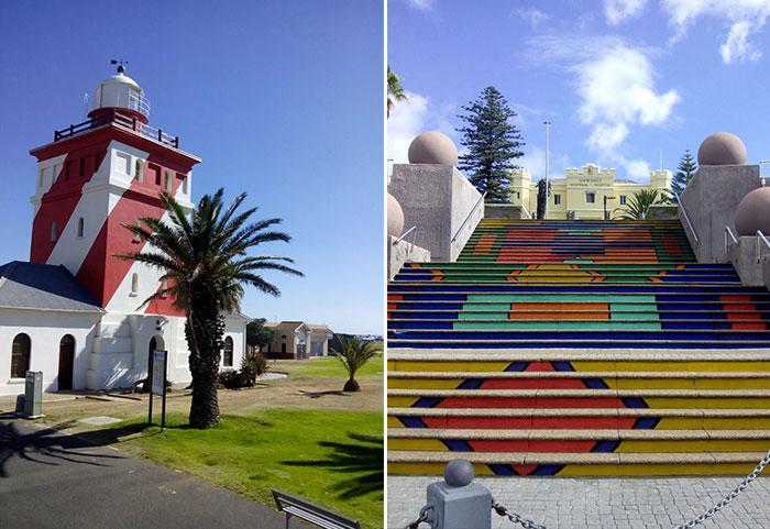 La Böcöque. Aventuras en Sudáfrica. escaleras de colores