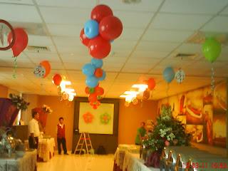 bunga balon - gantung