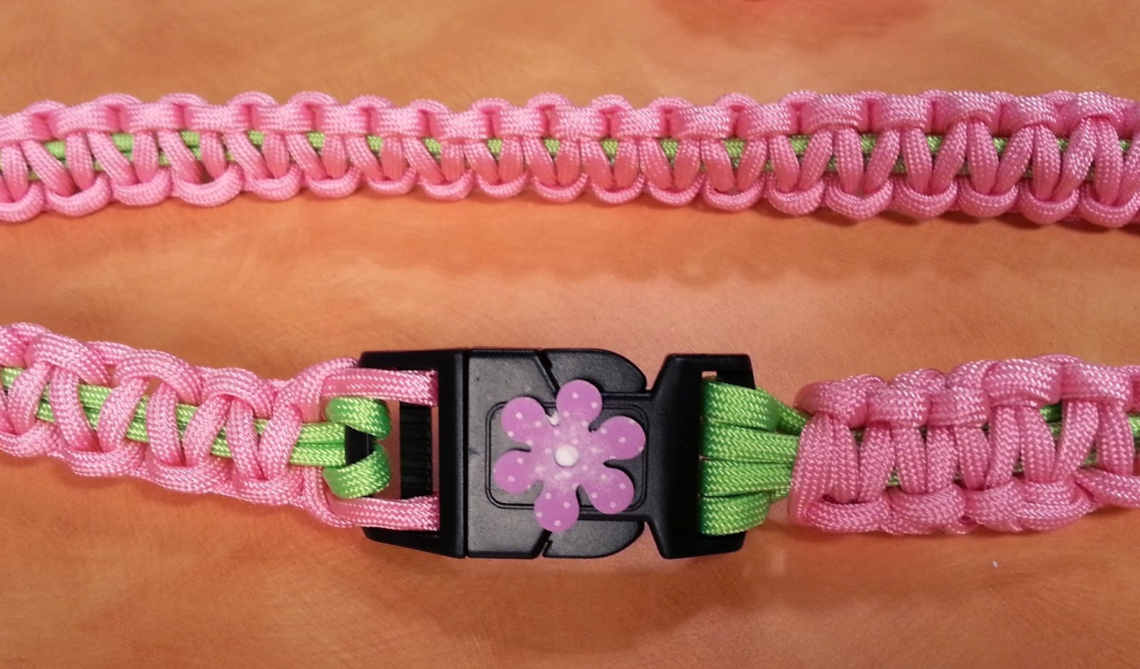 Parachute Cord belt. Photo courtesy of Hands On Crafts for Kids