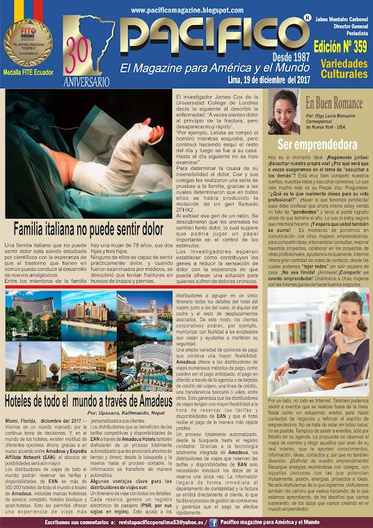 Revista Pacífico Nº 359 Variedades Culturales