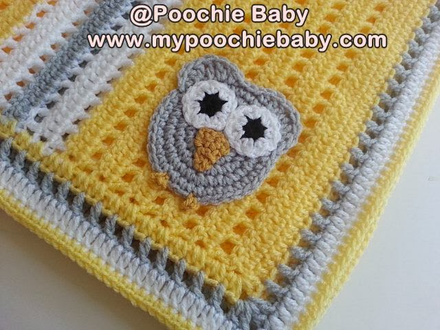 Raising Mimi Poochiebaby Crochet Owl Receiving Blanket Pattern