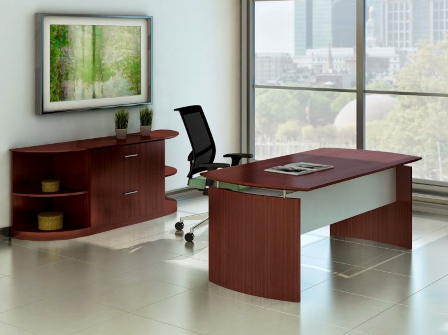 One Of The Greatest Aspects About The Medina Series Is Itu0027s Affordability.  In Fact, Many Of Their Single Office Desks Cost Far Less Than Most Office  Chairs!