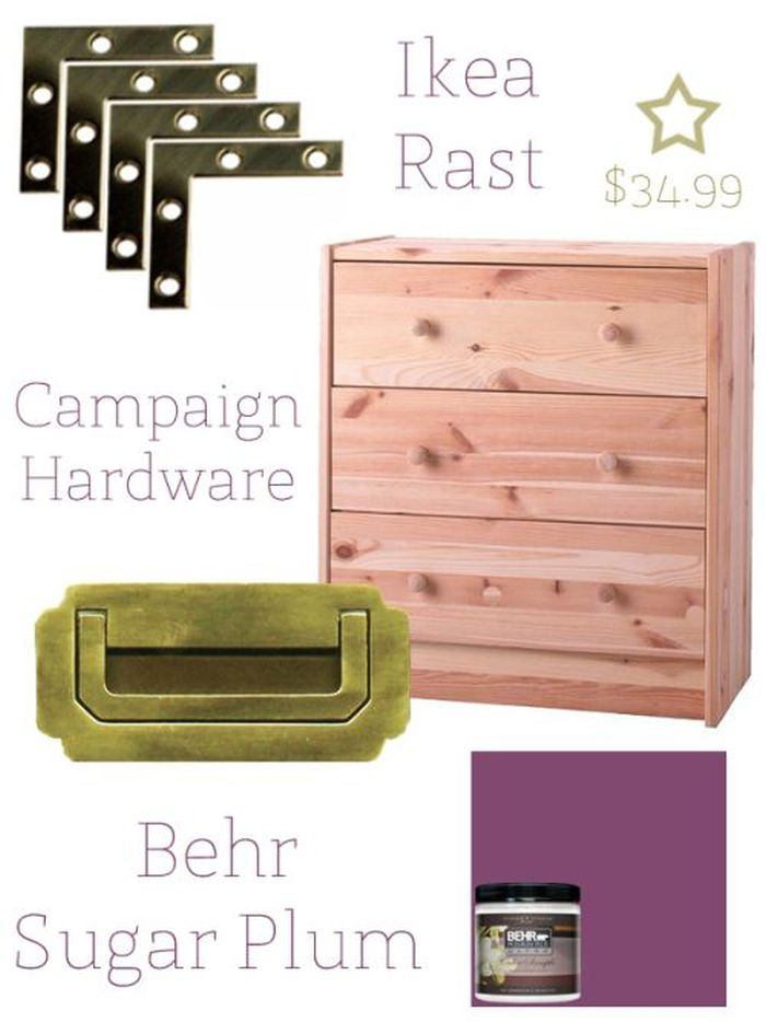 Ikea Rast Turned Campaign Chest Ikea Hackers Ikea Hackers