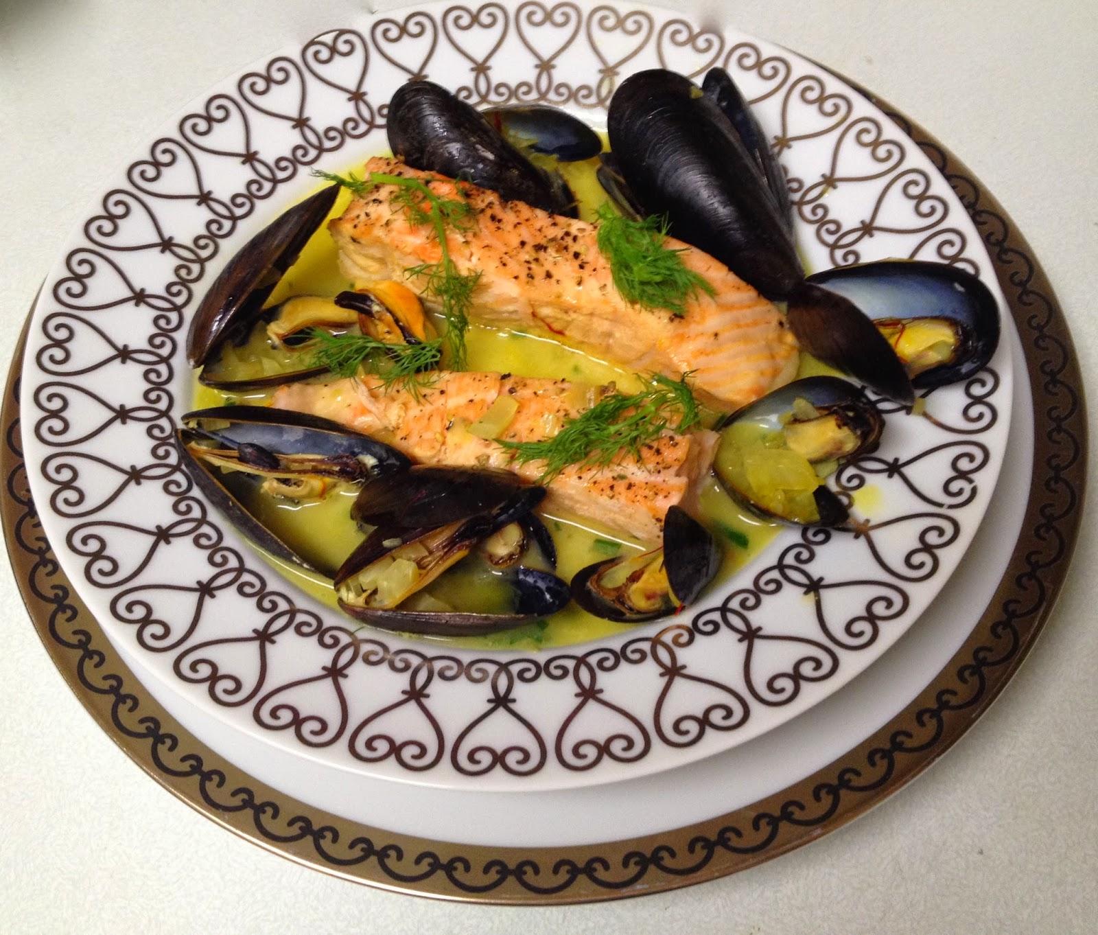 ... sauce salmon in saffron mussel sauce salmon with mussels saffron