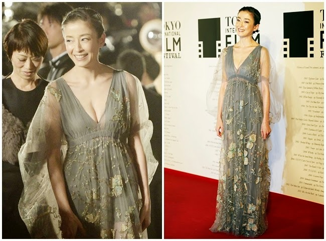 Zhang Ziyi wore the same 2014 AW Valentino dress with Rie Miyazawa