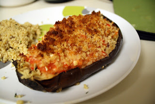 Easy Christmas Stuffed Eggplant