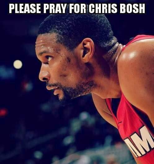 Please pray for crish bosh. #MiamiHeat #ChrisBosh #pray #Pleasepray #NBA