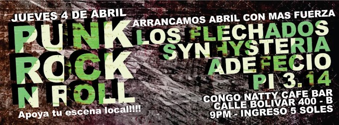 Punk y Rock and Roll en en CongoNatty (4 de abril)