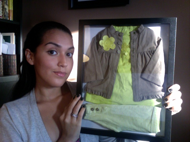 How To Display Baby Clothes Shadow Box Tutorial