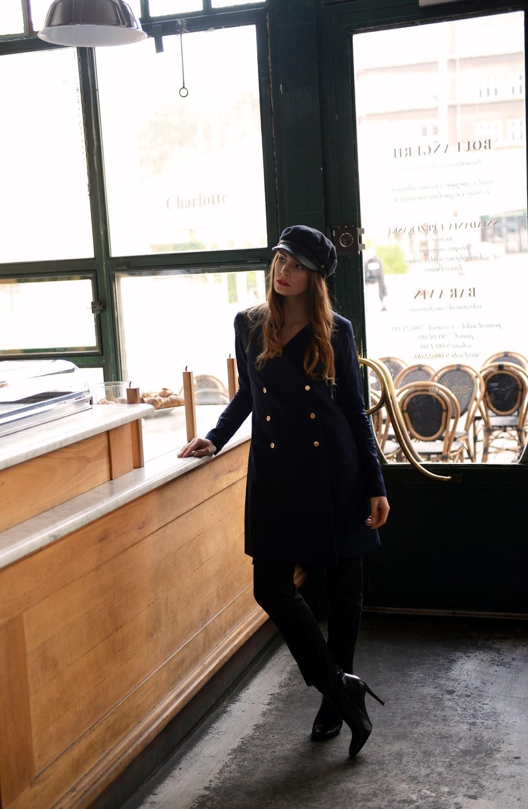 kaszkiet | sesja w kawiarni | blogi o modzie | blogerka modowa z krakowa