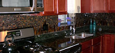Chicago Condo Mosaic Backsplash