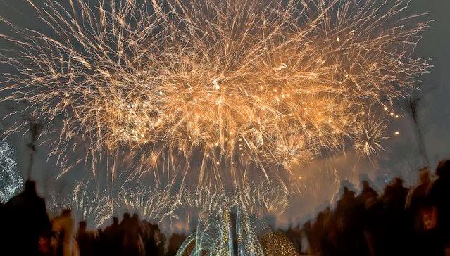 Fuegos Artificiales, año nuevo 2014, Rumania