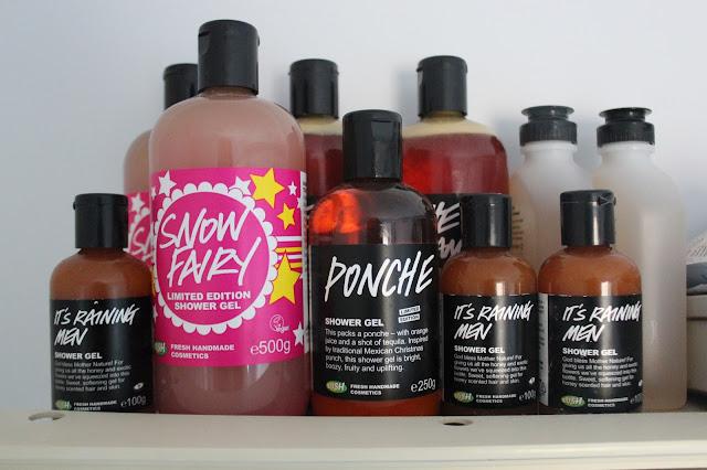 lush cosmetics shower gels
