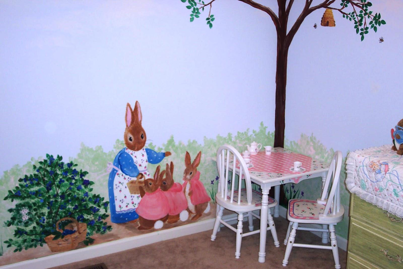 dddesigns murals peter rabbit